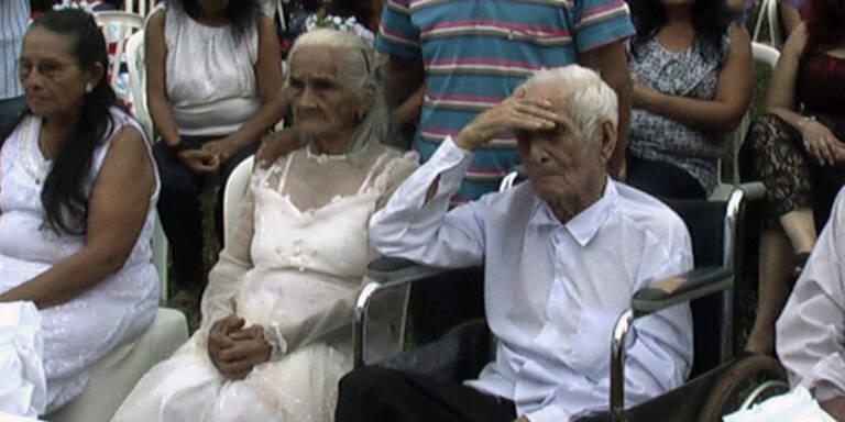 Paar heiratete nach 80 gemeinsamen Jahren
