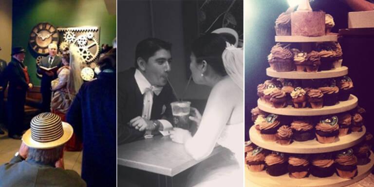 """Witziger Trend: Hochzeit bei """"Starbucks"""""""