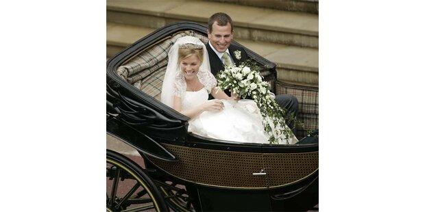 Queen-Enkel Peter Phillips heiratete in Windsor
