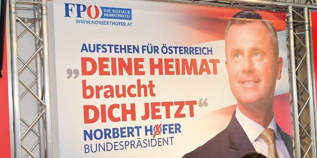 FPÖ-Hofer-Plakat: Ärger wegen Präsidenten-Titel