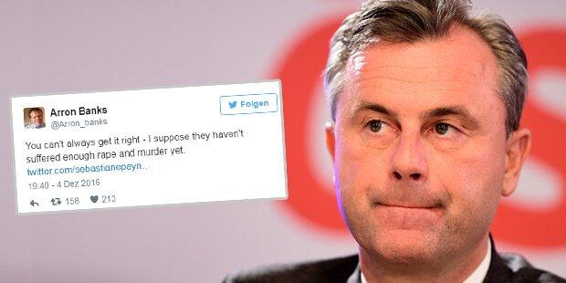 Farage-Vertrauter: Zu wenig Vergewaltigungen für Hofer
