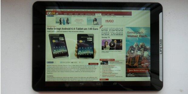 "Neues ""Hofer-Tablet"" vorab im oe24.at-Test"