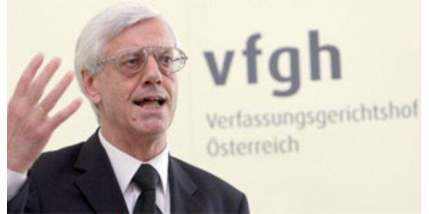 VfGH-Präsident verlangt von Regierung