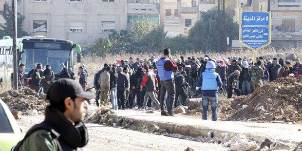 Rebellen räumen Hochburg Homs