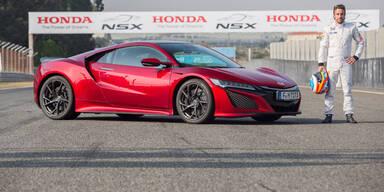 Alonso gab dem neuen NSX die Sporen