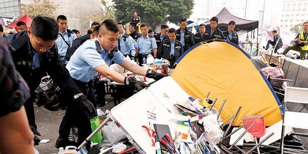 Letztes Protestcamp in Hongkong geräumt
