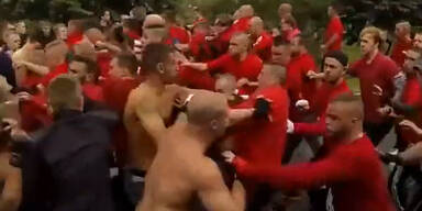 Brutale Schlägerei zwischen Hooligans