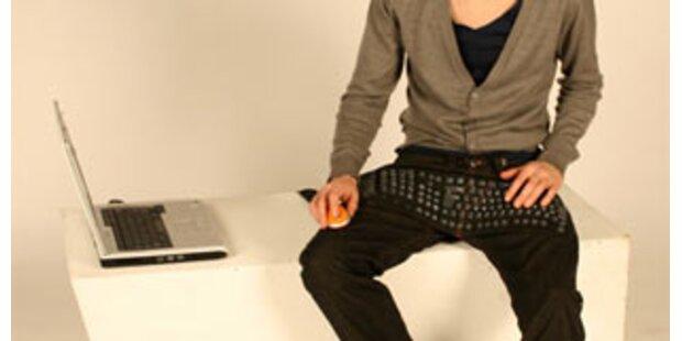 Hose mit eingenähter Tastatur entworfen
