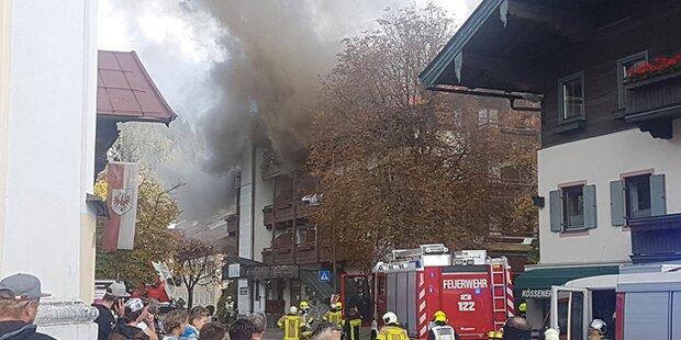 Großeinsatz: Sporthotel in Tirol stand in Flammen