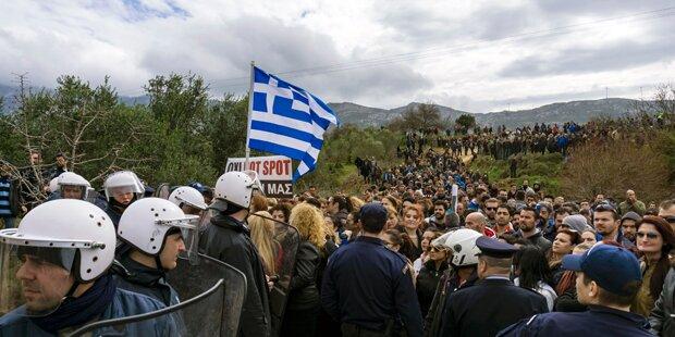 Zweiter Hotspot in Griechenland fertig