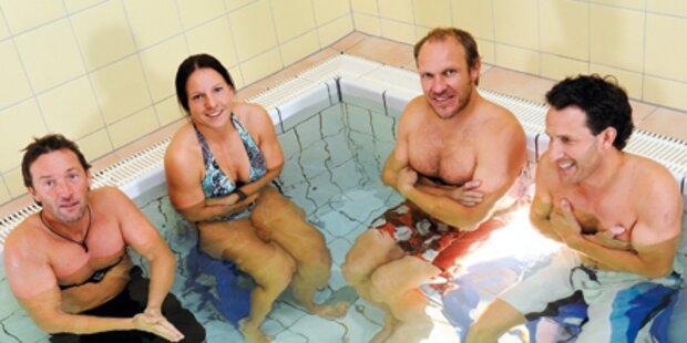 Herminator: Bad im Eiswasser