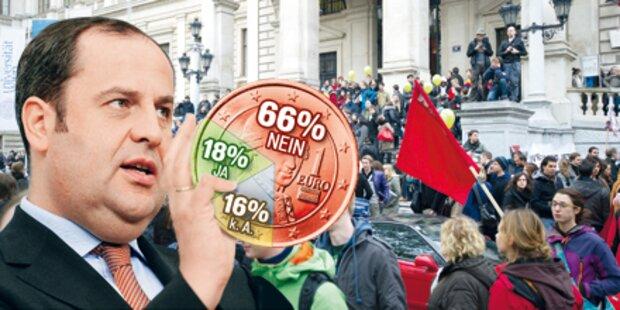Österreicher erteilen Budget eine Absage