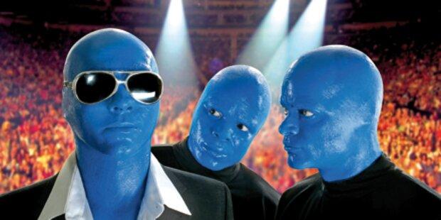 Die Blue Man Group im TV & live in Wien