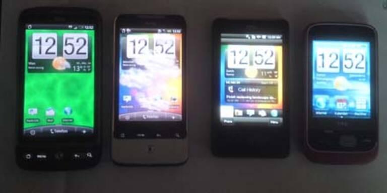 HTC: 4 neue Smartphones für Österreich