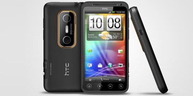 Das HTC EVO 3D startet in Österreich