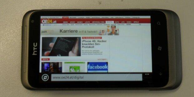 HTC Radar im Test: Smartphone mit Wndows Phone 7.5 Mango
