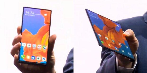 Mate X: Huaweis faltbares Smartphone schlägt Samsung