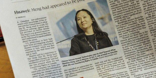 Verhaftete Huawei-Finanzchefin wieder frei