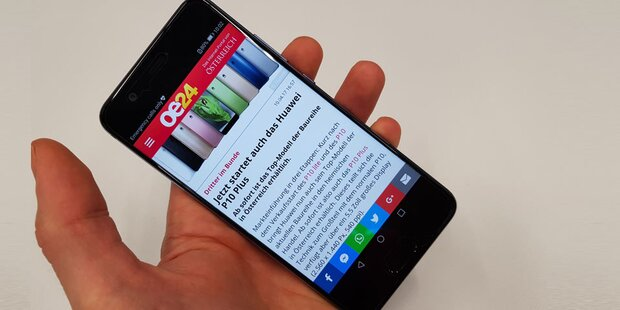 Das Huawei P10 im großen oe24-Test