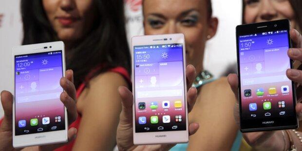 Ascend P7 greift Galaxy S5 & Co. an