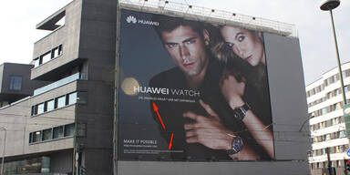 Mega-Blamage für Huawei mit Werbeplakat