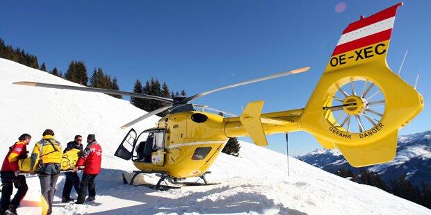 Skifahrer crasht in vereisten Schneehügel - tot