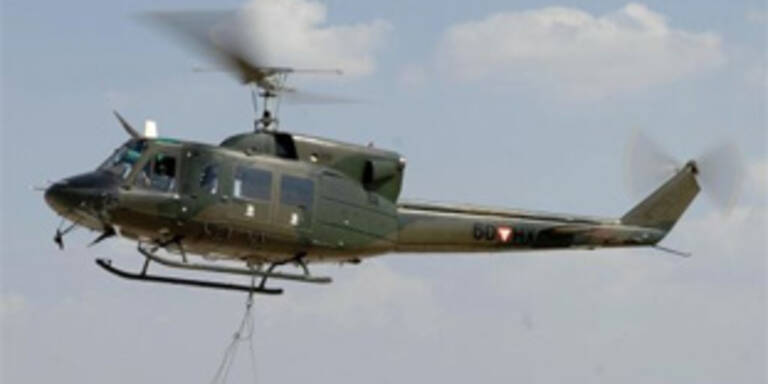 Bundesheer-Hubschrauber kappte Stromleitung