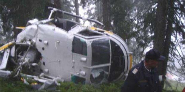 Hubschrauber in Salzburg abgestürzt