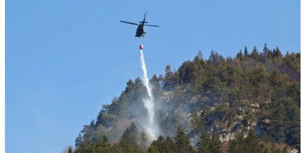 Waldbrand bei Innsbruck unter Kontrolle