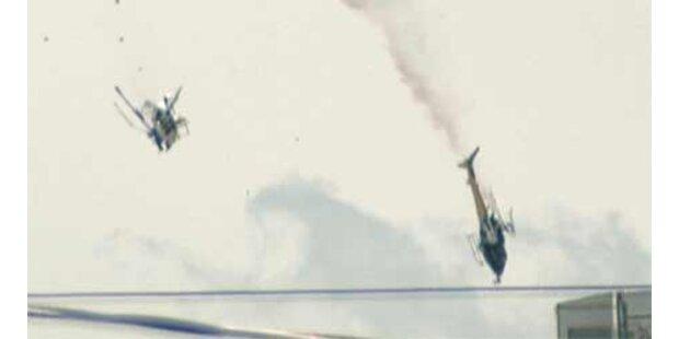 Zwei TV-Hubschrauber zusammengestoßen