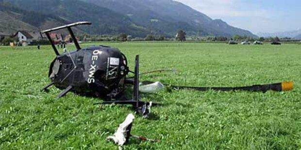 Hubschrauber in der Steiermark abgestürzt