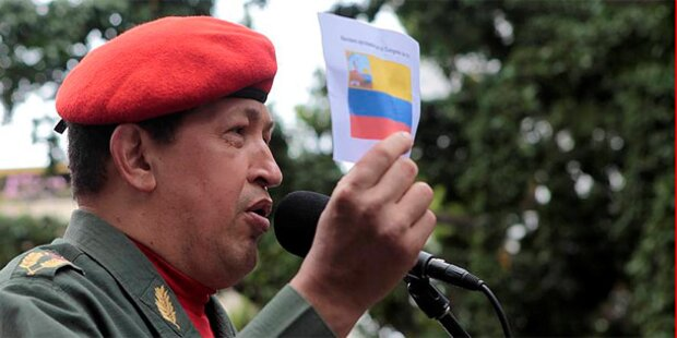 Chavez ruft Gaddafi zu