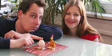 Huhn gegen Ei
