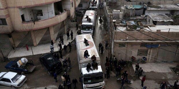 Hilfslieferungen aus Türkei erreichten Syrien