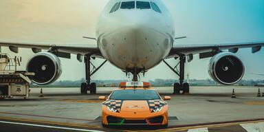580-PS-Lamborghini als Flughafen-Fahrzeug