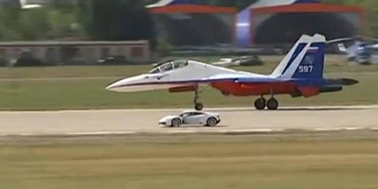 Lamborghini Huracán vs. Kampfjet