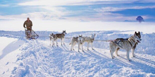 Romantische Reise in den Winter