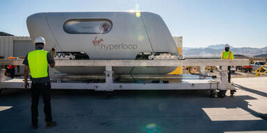 Bemannte Hyperloop-Testfahrt war voller Erfolg