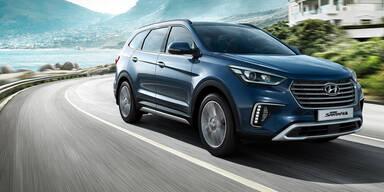 Hyundai frischt den Grand Santa Fe auf