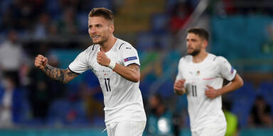 Italien-Stürmer Ciro Immobile jubelt bei der EM 2020