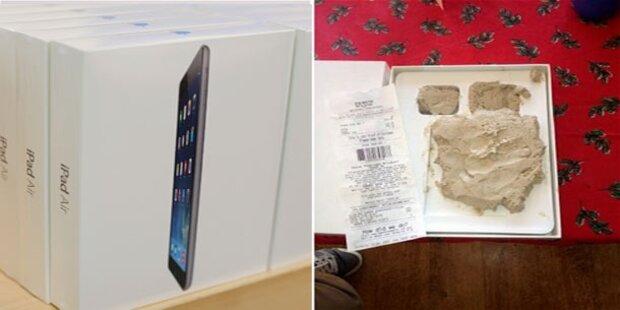 Käufer bekam Lehm statt einem iPad