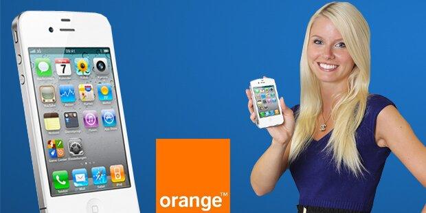 Weißes iPhone 4 von ORANGE gewinnen