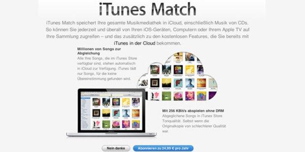Apples iTunes Match in Österreich gestartet