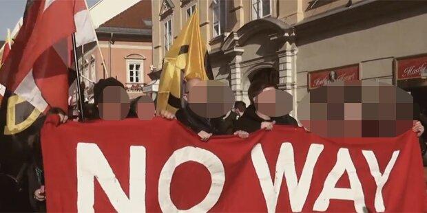 Hitlergruß bei Identitären-Demo