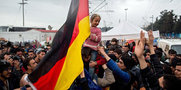 Flüchtlinge rufen