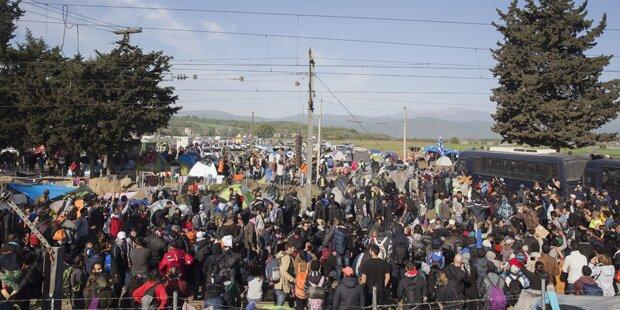 Schwere Krawalle im Horror-Camp Idomeni
