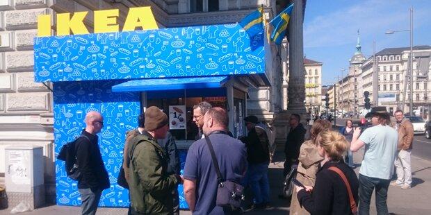 1. Ikea-Würstelstand in Wien eröffnet