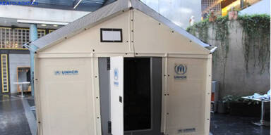 Ikea-Hütten für Kriegsflüchtlinge