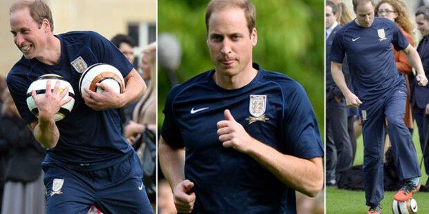 Prinz William: Baby- Auszeit bei Fußballspiel