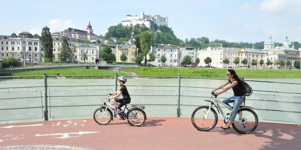 Digitale Radlkarte für ganz Salzburg